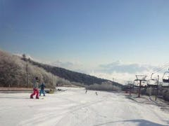 初滑りを楽しみました。
