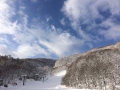気持ちよいスノーパウダーでハイスピードでのスキーが出来ました。