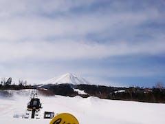 実は今シーズン初のチャオ御岳 天気も良くて最高でした。